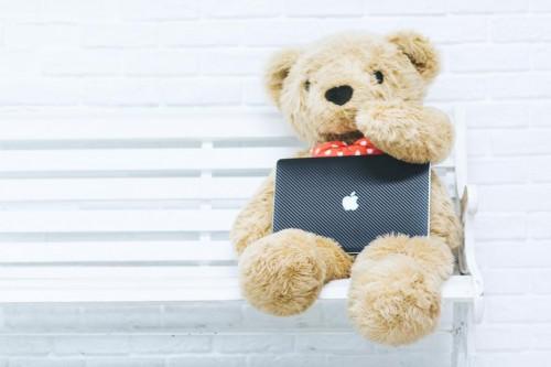 クマとパソコン